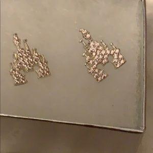 Disney Rebecca Hook Pink Castle Earrings